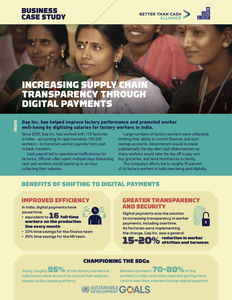 Gap Inc. ✪ Increasing supply chain transparency through digital payments