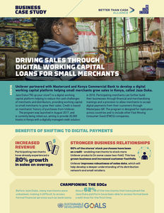 Unilever / Mastercard ✪ Driving sales through digital working capital loans for small merchant